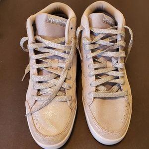 Reebok Women's Glitter Shimmer Hi Top Sneakers 8.5